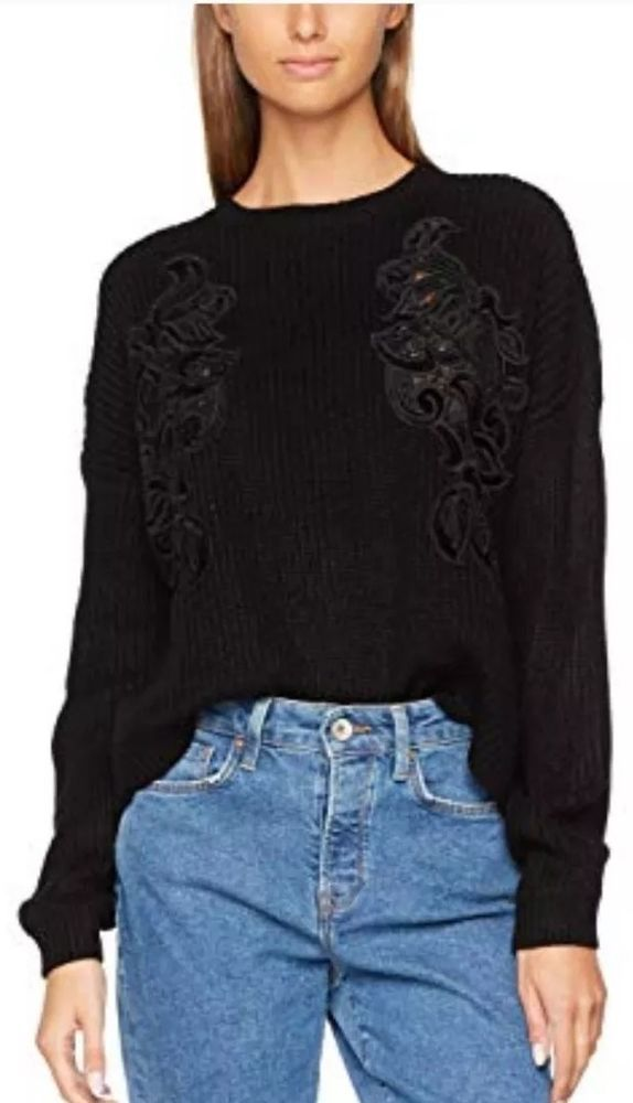 Clearance Ladies New Look Velvet Patch Jumper Small  fashion  clothing   shoes  accessories  womensclothing  sweaters (ebay link) 7d52673d2