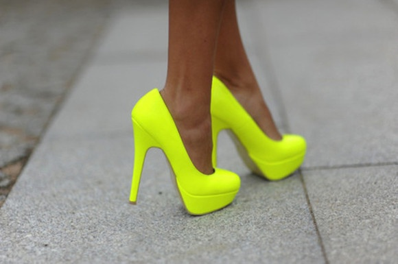 OMG. I had some like these in 8th grade... maybe not quite that high, but same color! LOL!
