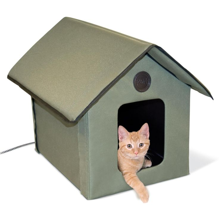 $45.04 Prime Amazon.com : Fits 1 cat.  Comes with door flap!  K&H Outdoor Kitty House, Heated : Pet Beds : Pet Supplies