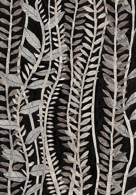 Zentangle inspiration- leaf patterns