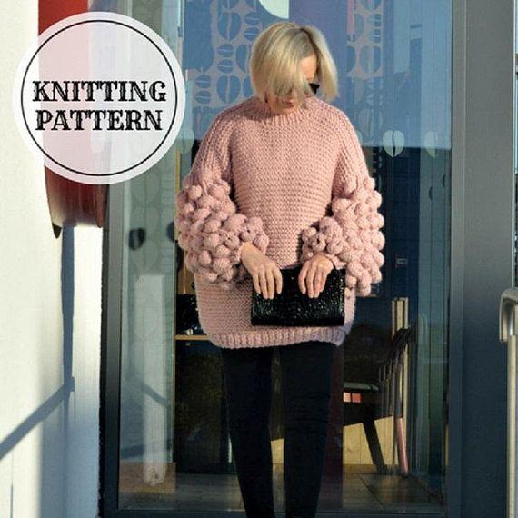 5f9fe22cb2 Bubble Sleeve Sweater Knitting Pattern