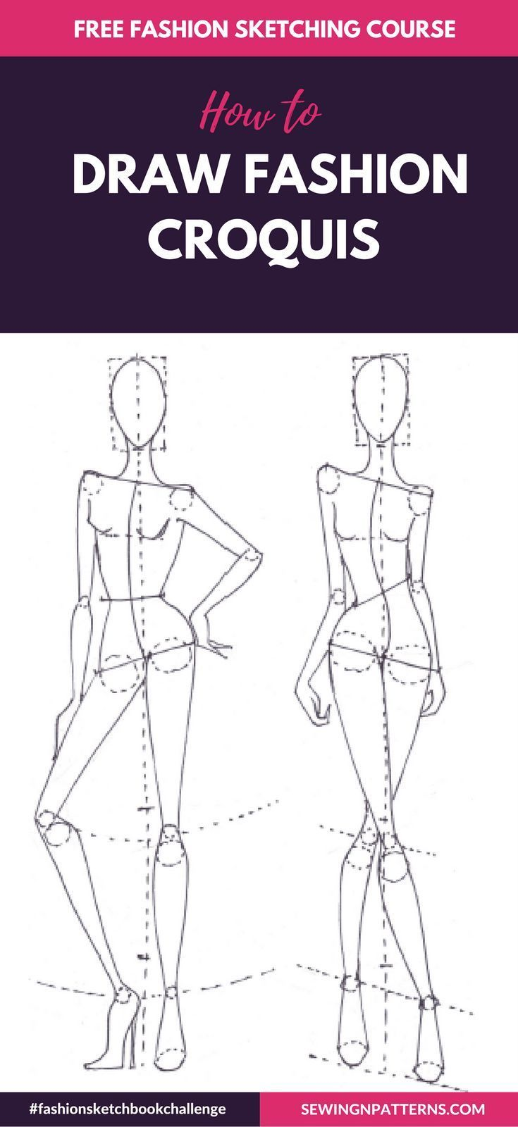Make fashion sketches like a pro in 30 days
