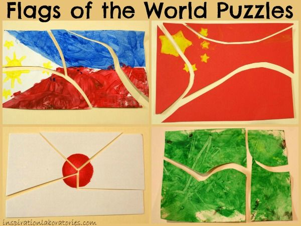 Flags of the World Puzzles from Inspiration Laboratories