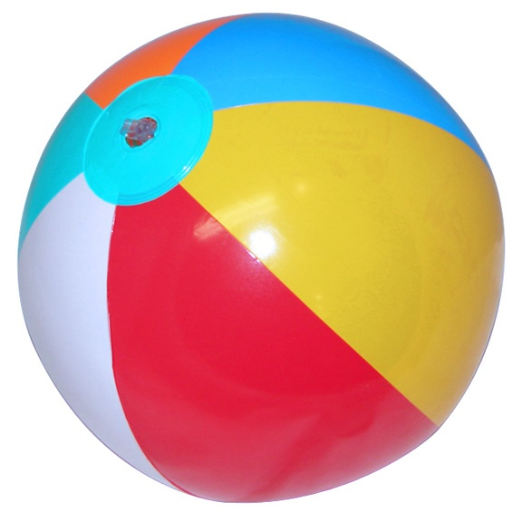 """Use beach balls and a sharpie marker to make your own """"ball of questions""""."""