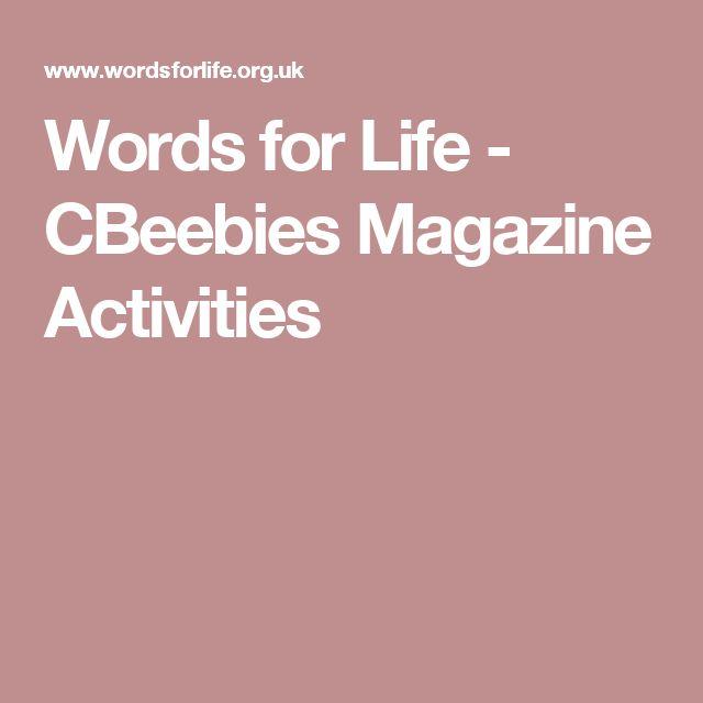 Words for Life - CBeebies Magazine Activities