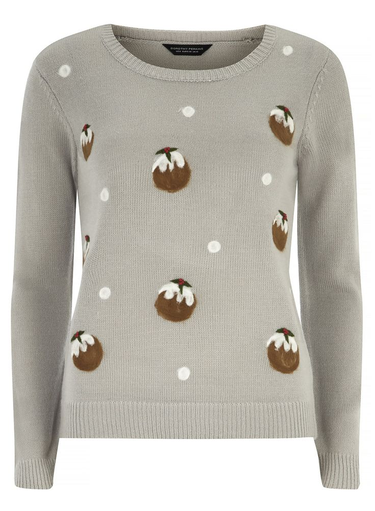 Grey Christmas Pudding Jumper