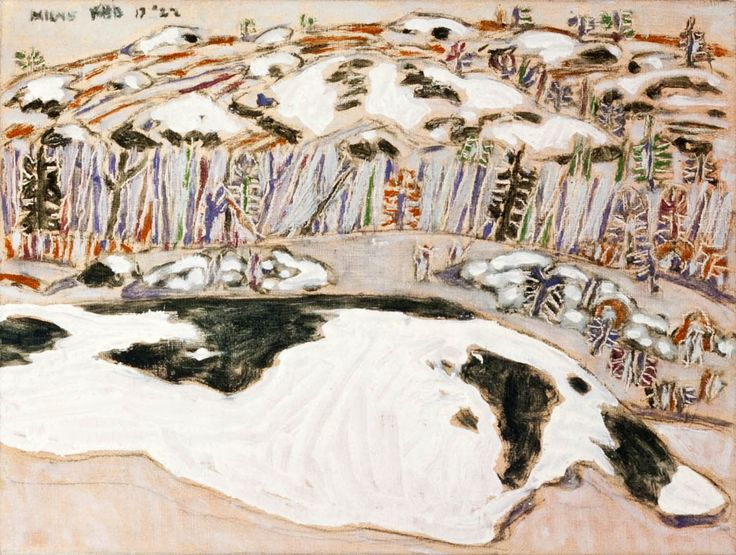 'Snow Patches III', 1922, oil on canvas ptg by David Milne at Mayberry Fine Art