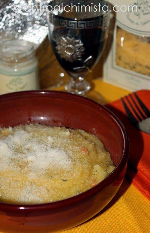 L'Antro dell'Alchimista: Polenta con Funghi Porcini e Crema di Tartufo Nero - Polenta with Porcini Mushrooms, Fontina Cheese and Black Truffle Cream