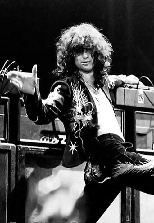 Jimmy Page playing the theremin