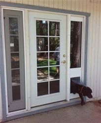 The SB Standard Patio Pet Door Insert Is Our Best Selling Pet Door For  Sliding Glass Doors   Single Pane Safety Glass With A Single Flexible Vinyl Pet  Door ...