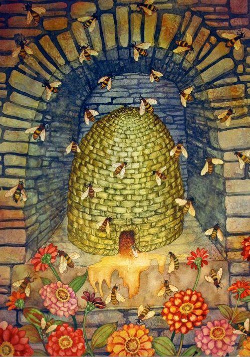 """≗ The Bee's Reverie ≗ """"Where Are the Bees VI"""" by HelenKlebesadelArt on etsy"""