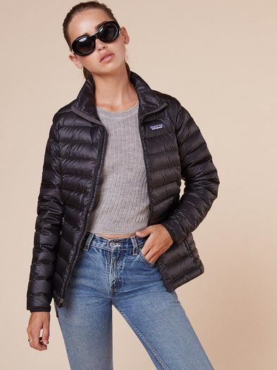 Patagonia Down Sweater Jacket  https://www.thereformation.com/products/patagonia-down-sweater-jacket-black?utm_source=pinterest&utm_medium=organic&utm_campaign=PinterestOwnedPins