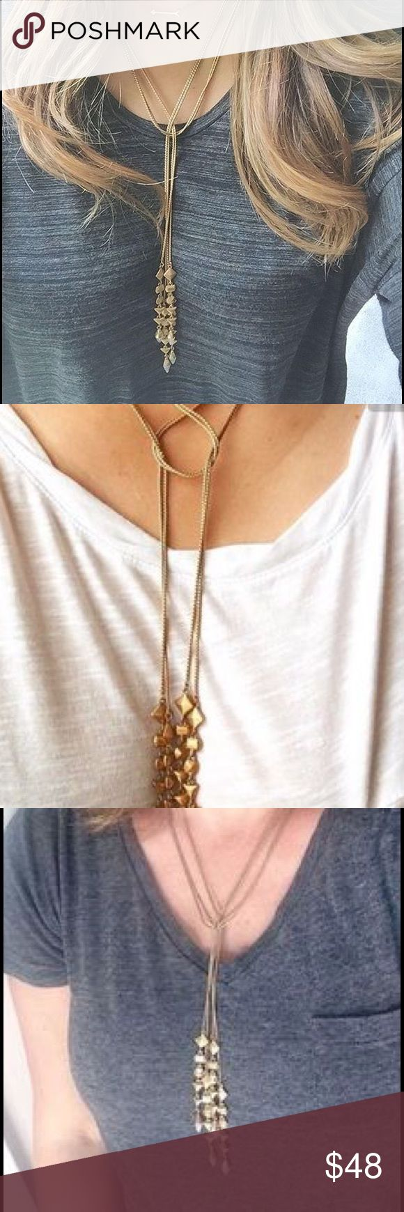 Stella and Dot Brynn Lariat Necklace Brand new with box. Can be worn several ways. Goes with everything! Stella & Dot Jewelry Necklaces