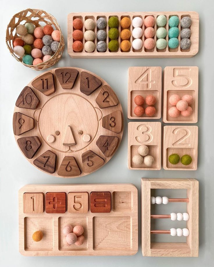 These cute little educational toys make learning fun! Montessori Playroom, Montessori Toddler, Montessori Activities, Infant Activities, Toddler Toys, Activities For Kids, Educational Activities, Diy Sensory Board, Baby Sensory