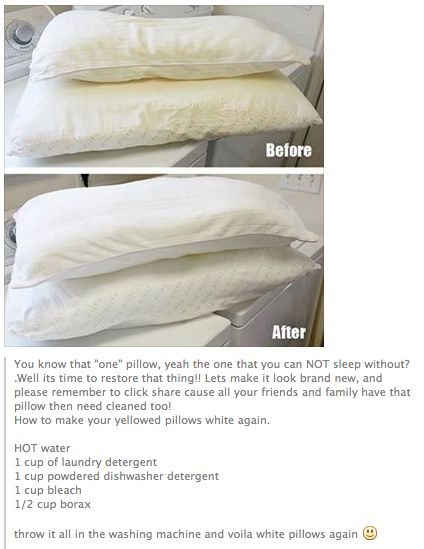 clean pillows.
