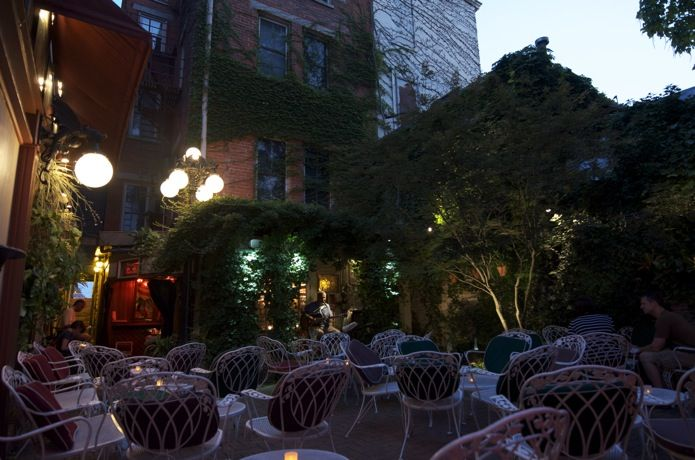 Love sitting outdoors on a warm summer night, listening to live music. Why isn't anyone sitting in these seats???