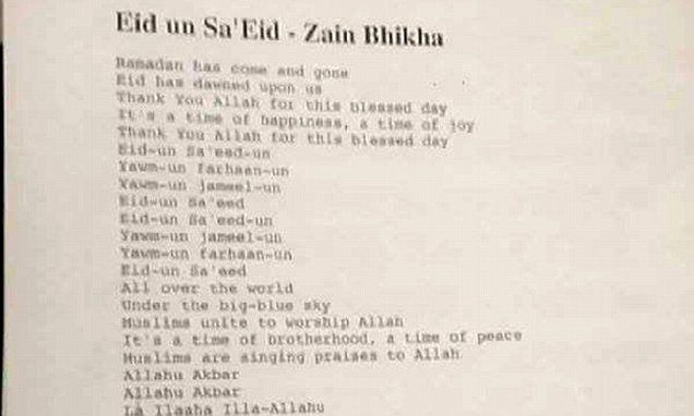 Ramadan song with words 'Allahu Akbar' stirs controversy #DailyMail