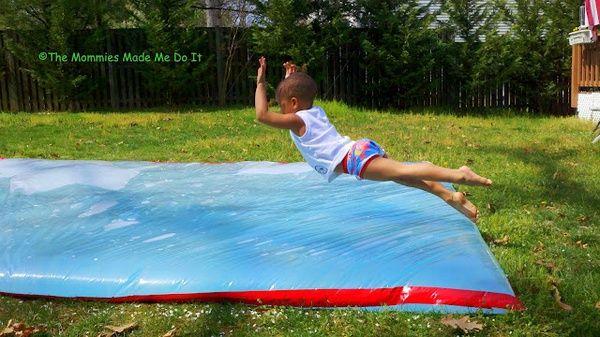 giant outdoor waterbed fun