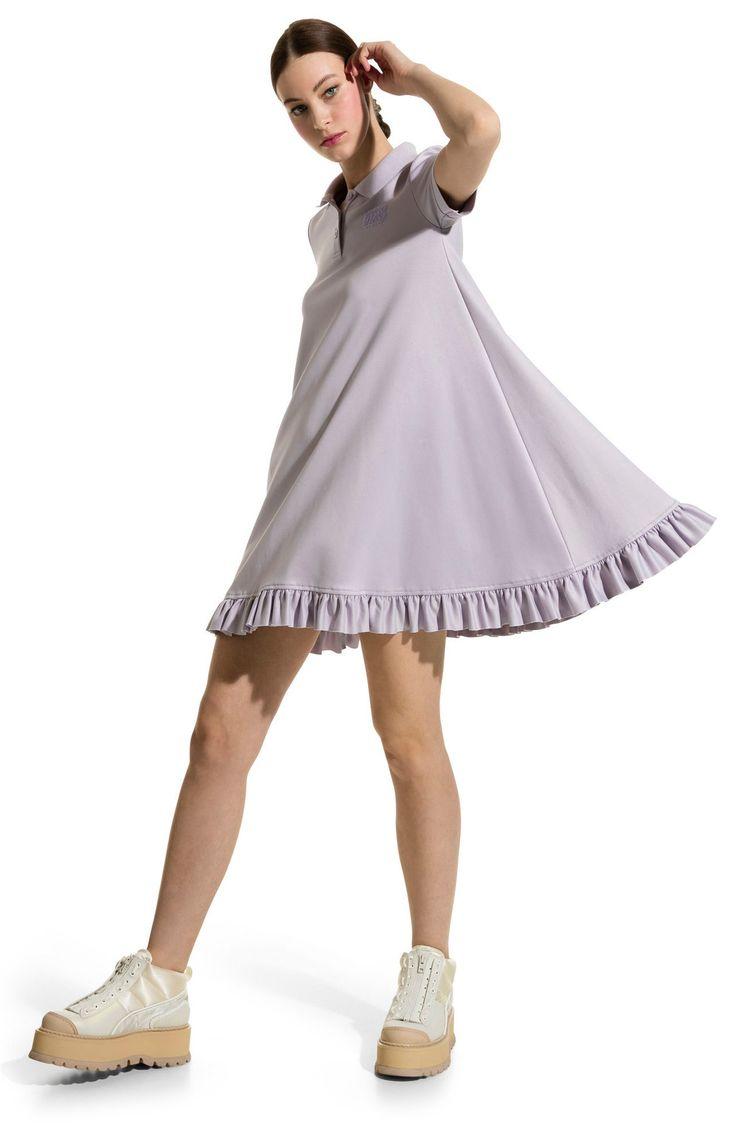 New FENTY PUMA by Rihanna Polo Swing Minidress, Latte Pumice fashion dress online. [$210]>>newtstyle Shop fashion 2017 <<