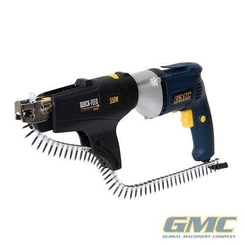 GMC 320784 Autofeed Drywall Screwdriver 550W for fast, repeated driving of screws into plasterboard and wood. Fast click-fit assembly...Tools For Sale UK!