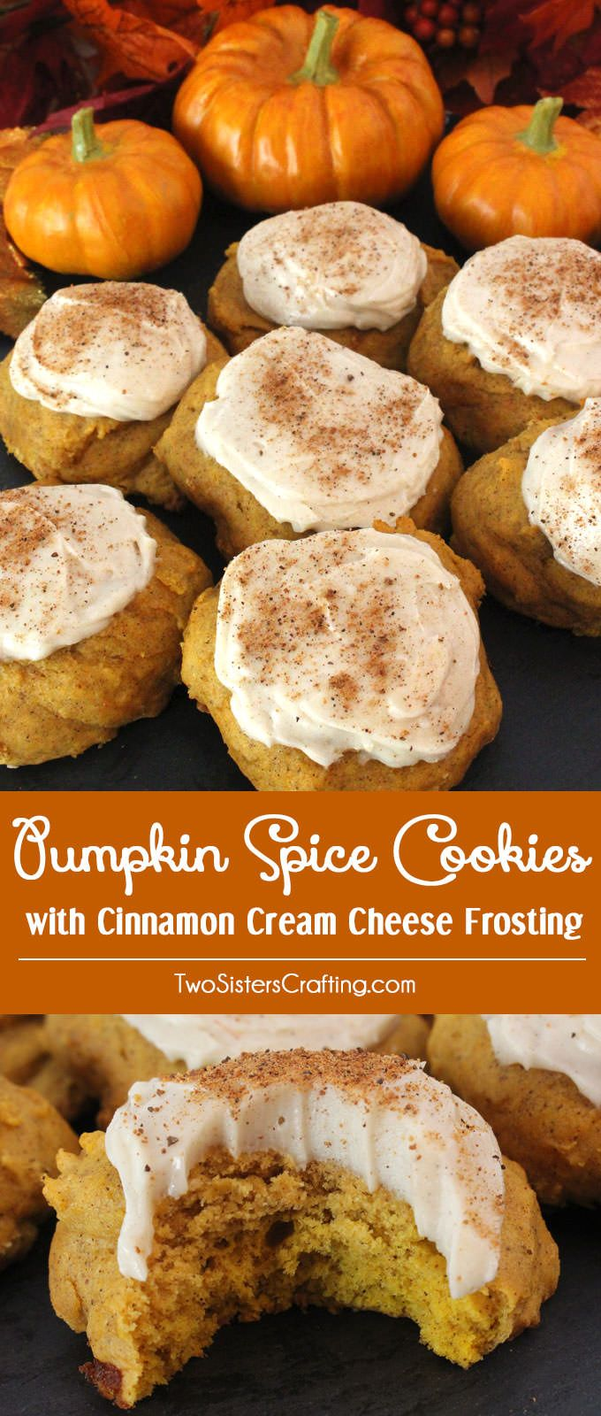 This Pumpkin Spice Cookies with Cinnamon Cream Cheese Frosting is an old family recipe that only gets better with age they taste just like pumpkin pie.