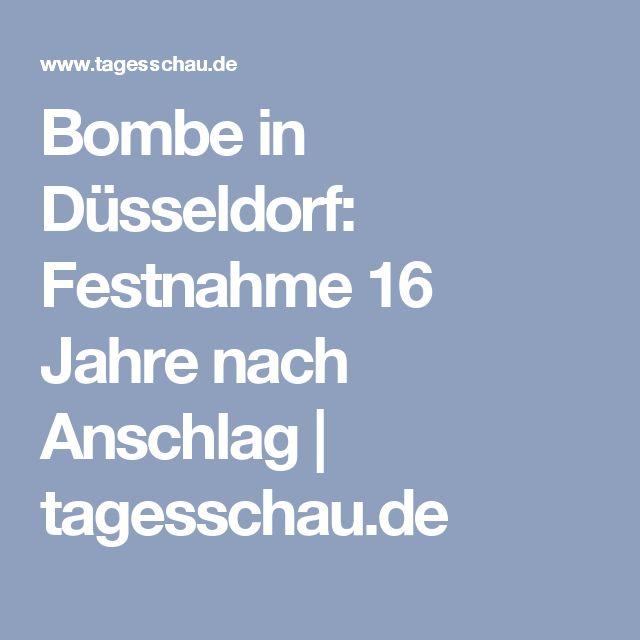 Bombe in Düsseldorf: Festnahme 16 Jahre nach Anschlag | tagesschau.de