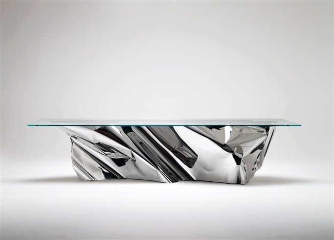 The Iceberg Esque Dining Table U0027Atlanticu0027 By Fredrikson Stallard Polished  Stainless Steel, Glass. | TABLES * Tables à Dîner * | Pinterest