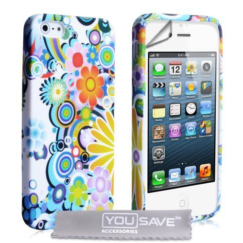 iPhone 5 / 5S Rainbow Floral Silicone Case by Yousave Accessories, http://www.amazon.co.uk/dp/B009PZI8IW/ref=cm_sw_r_pi_dp_1C7Lsb0QBZ25A