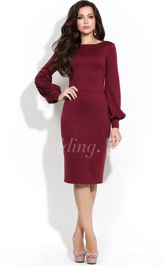 $76.70-Bateau Long Puff Sleeve Sheath Jersey Knee Length Mother of the Brides Dress With U Back. http://www.doriswedding.com/bateau-long-puff-sleeve-sheath-jersey-knee-length-dress-with-u-back-pET_329251.html. Explore our best wedding dresses & gowns, mother of the groom dress collection Doris Wedding 2016 dress style collection. Free custom made service of any dress design & Free Shipping! #motherofthebrides #motherofthegroom #DorisWedding.com