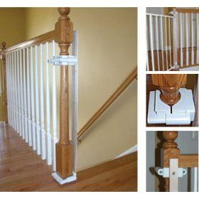 No Hole Stairway Baby Gate Mounting Kit By Safety Innovations, (baby gate, stair gate, baby-proofing, baby gates, safety, gates, gate, baby proof, baby, doorways)