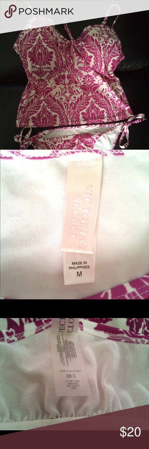 Victoria secret purple tankini swimsuit Top sz 38C. Bottom Sz. Medium. Worn once. PINK Victoria's Secret Swim Bikinis