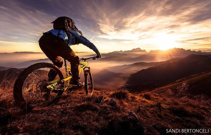 """Sandi Bertoncelj captured a sunset trail ride for the #WhatsYourNature photo contest and made it to our Top 100.  He photographed a """"mountain bike escape to high mountains (Karavanke alps in Slovenia) in the time of thermal inversion which appears in the last months of year,"""" and says """"it was very a pleasant and exciting nature adventure."""" Cast your vote for the best photos, see link in our profile. #slovenia #europe #nature #adventure #exploretoday #peopleinnature #livenature"""