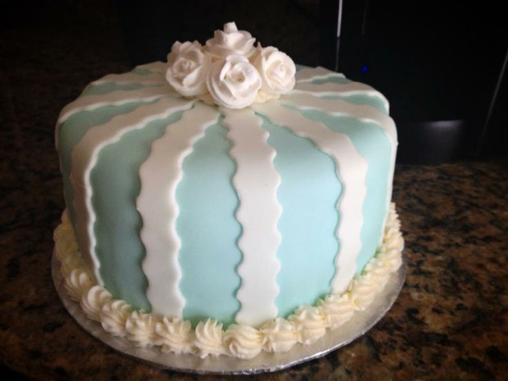Elegant in Blue Cake
