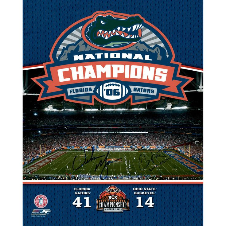 "Urban Meyer, Chris Leak Florida Gators Fanatics Authentic Autographed 16"" x 20"" Champ Panoramic Photograph with 06/BCS MVP Inscriptions"