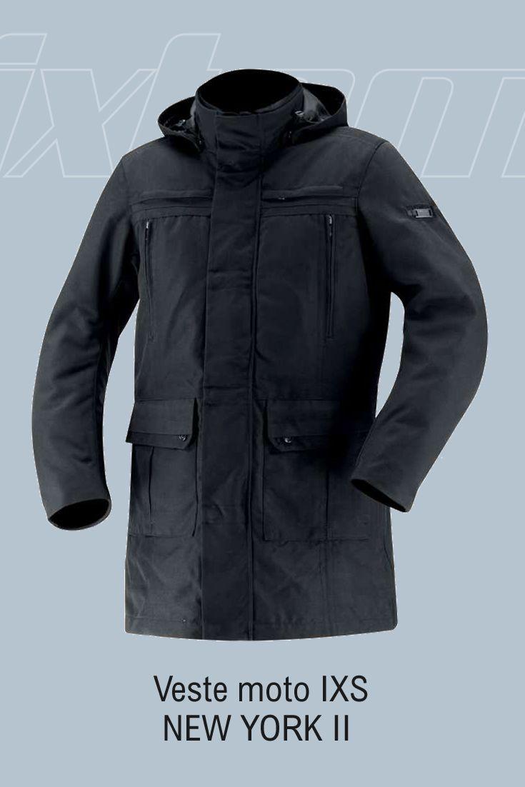 #blouson #moto #ixs La veste moto IXS NEW YORK II vous permettra d'avoir un look tendance tout en étant protégé des conditions climatiques et d'évoluer en toute sécurité grâce à sa doublure thermique molletonnée, sa membrane étanche et à ses différentes protections. Veste citadine technique, la IXS NEW YORK II est idéale à porter par dessus un costume. Polyvalente, elle...