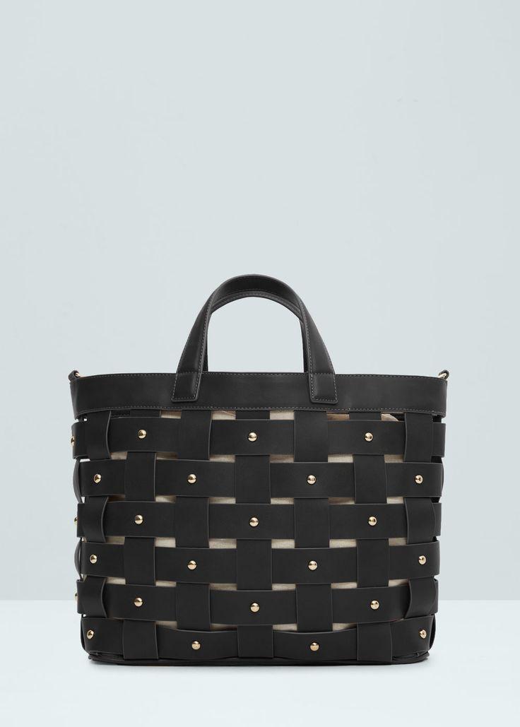 Shopper-bag in netz-optik - Taschen für Damen | MANGO Österreich