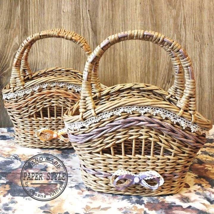 Корзинки-сумочки для косметики, расчесок и других мелочей.♥