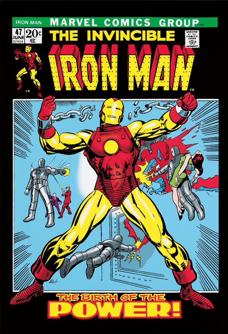Invincible iron man 47 marvel comic wall decal_d