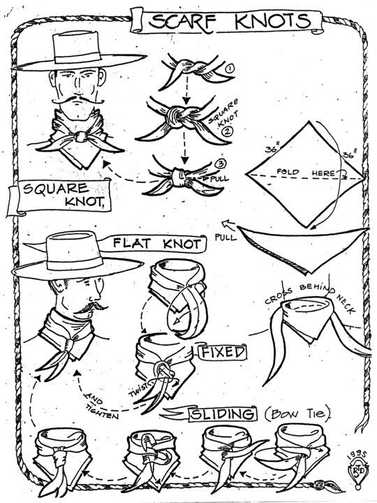 How to tie a Heather's Wild Rag.   www.heatherswildrags.com: Buckaroo Knot, Rag Knot, Neck Scarfs, Scarfs Knot, How To Ties A Cowboys Scarfs, Buckaroo Style, Cowboys Fashion, Scarfs Ties, Cowgirlstyl Styletip