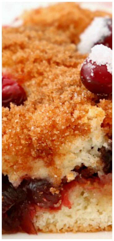 Cranberry cinnamon coffee cake festive easy coffee