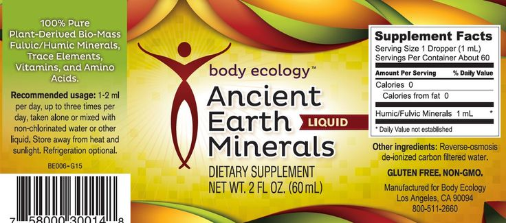 The highest quality blend of humic, fulvic, micro and macro minerals and amino acids Minerals help nourish your thyroid and adrenals, aid in detoxification, reduce signs of aging, and support your immune system