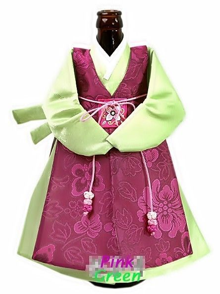 Handmade Korean traditional style Hanbok Men's clothes of Wine bottle Cover