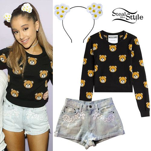 Ariana Grande: Bear Print Sweater