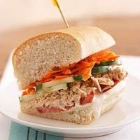 BHG's Newest Recipes:Salmon Salad Sandwiches Recipe