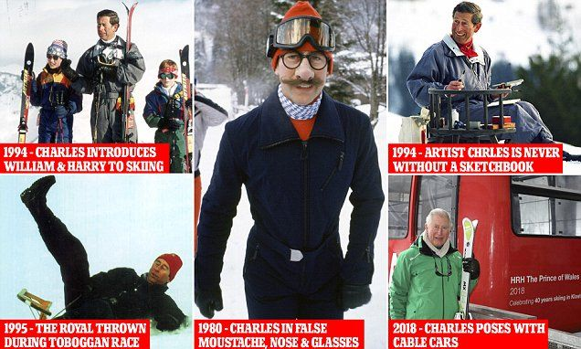 Prince Charles marks 40 years at his favourite ski resort Klosters