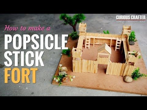 Popsicle Stick Fort / Castle - [How to DIY] - YouTube