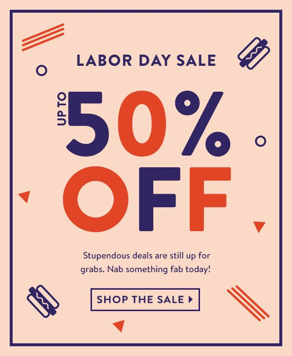 Labor Day Sale: Up to 50% Off! Summer's coming to an end, but these deals are…