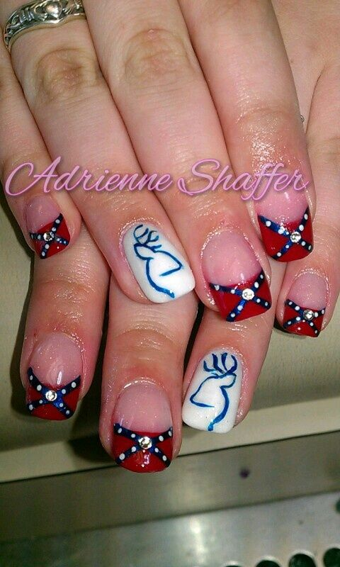 Browning Nail Designs   ... need these to be my next nails!! Confederacy with Browning Symbol