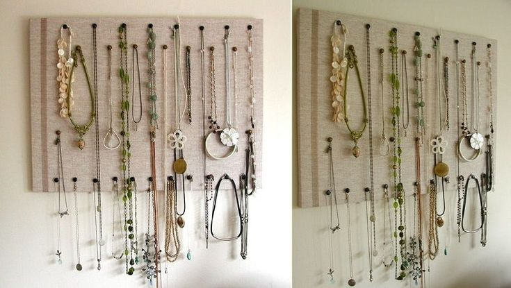 Make an easy, elegant jewelry organizer and display