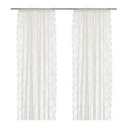 ALVINE SPETS Sheer curtains, 1 pair - IKEA Good for alter decorating?